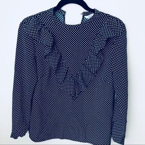 NWOT | H&M long sleeve polka dot blouse